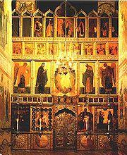 Iconostase de l'église de l'Annonciation au Kremlin, Moscou, Russie