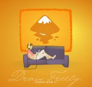 Affiche promotionnelle pour le lancement d'Inkscape 0.44
