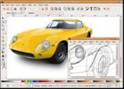 Image photoréaliste de Lamborghini Gallardo sur Inkscape 0.45