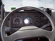 Intérieur d'une cabine de conducteur
