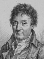 Jacques Charles.Lithographie de Julien Léopold Boilly (1820).