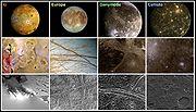 Surfaces des lunes galiléennes