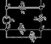Schéma d'un montage électrique illustrant la loi des mailles.   Uab + Ubc + Ucd = Uad  soit Uab + Ubc + Ucd + Uda = 0 (car Uda = - Uad).