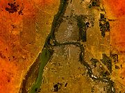 Photo satellite de Khartoum