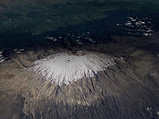Le glacier Furtwängler au sommet de Kilimandjaro en 1993