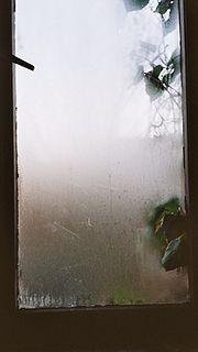 Buée sur une vitre