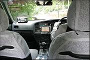 Un récepteur GPS dans un taxi