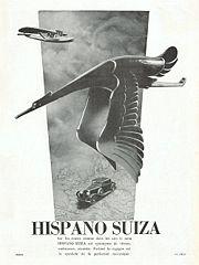 Affiche publicitaire d'Hispano Suiza
