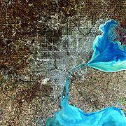 Image satellite de Détroit