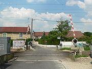 Passage à niveau automatique, à demi-barrières (France)