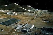 Une catapulte électromagnétique sur la Lune (vue d'artiste)