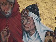 Lunettes au Moyen âge. Retable des 12 apôtres, 1466 (Rothenburg, Allemagne)