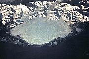 Le lobe glaciaire du glacier Malaspina en Alaska