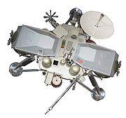 Maquette du module d'atterrissage Viking (Musée de la Villette (Paris).