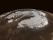 Calotte du pôle nord de Mars
