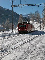 Glacier-Express près Biel de Goms