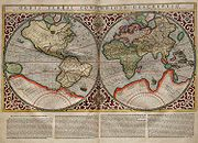 Planisphère dessiné par Mercator