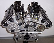 Moteur V6 moderne (Mercedes)