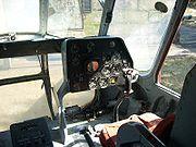 Mil Mi-8 T de la compagnie Interflug; vue du cockpit