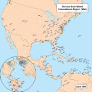 L'aéroport international connecte Miami aux principales villes américaines et européennes
