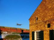 Airport as seen from Fort Mifflin