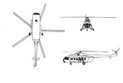 Plan 3 vues du Mil Mi-8