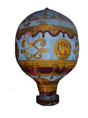 Maquette d'une montgolfière, London Science Museum
