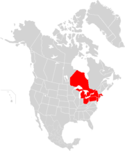Carte des provinces et états affectés
