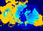 Étendue des calottes et inlandsis dans l'hémisphère nord au maximum de la dernière glaciation.