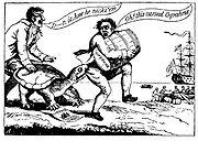 Caricature contre l'Embargo Act de 1807