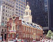 Le Vieux Capitole du Massachusetts à Boston, 1713, style géorgien