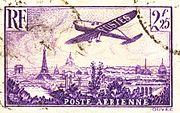 Les monuments parisiens sur un timbre de 1936