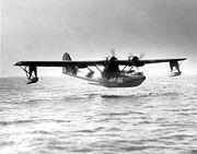 Un PBY Catalina sur le point d'amerrir