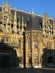 Le gothique flamboyant: palais de justice de Rouen, Seine-Maritime