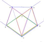 Pentagone obtenu en faisant un nœud avec une feuille rectangulaire