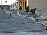 Sur les marches du musée de Philadelphie