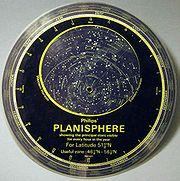 Planisphère astronomique moderne