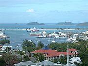 Vue du port de Victoria