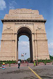 La porte de l'Inde a été établie par les Anglais