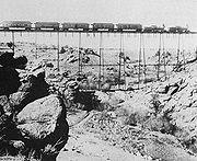Chemin de fer américain, dans les années 1860