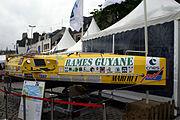 Bateau de Romain Vergé pour course transatlantique à la rame Rames Guyane