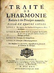 Page couverture du Traité de l'harmonie réduite à ses principes naturels de Jean-Philippe Rameau.