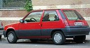 Une Renault 5 de deuxième génération dite Supercinq