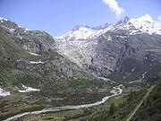 Le glacier du Rhône en 2005