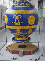 Maquette d'une montgolfière, musée royal de l'Armée, Bruxelles