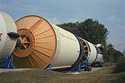 Une Saturn V exposée au centre américain de l'espace et des fusées à Huntsville en Alabama.
