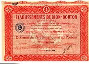 part bénéficiaire de Dion-Bouton