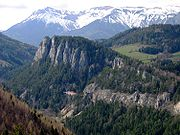 La ligne dans le paysage vu du Wolfsbergkogel
