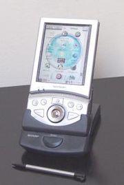Sharp Zaurus SL-5500 avec l'interface graphique OPIE et le logiciel OpenZaurus basé sur Linux