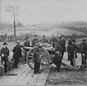 Le général Sherman aux environs d'Atlanta, 1864